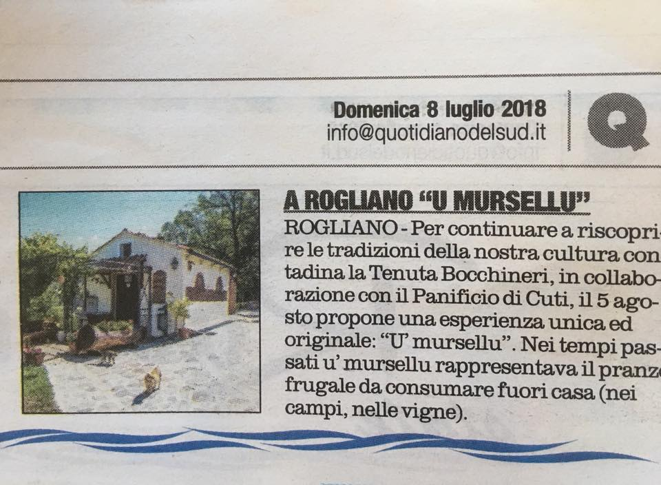 U mursellu Quotidiano del Sud