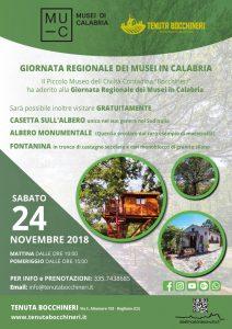 Musei in Calabria: I Giornata Regionali Tenuta Bocchineri