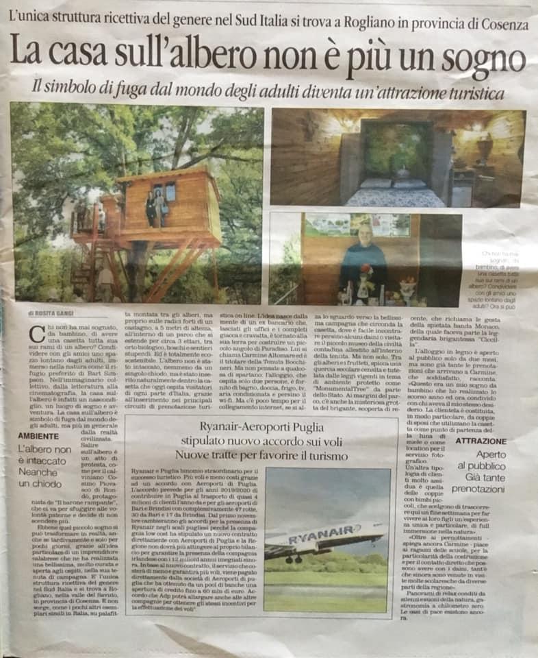 """Articolo oggi in edicola su """"Il Quotidiano del Sud - l'ALTRAVOCE dell'Italia, a cura della giornalista Rosita Ganci."""