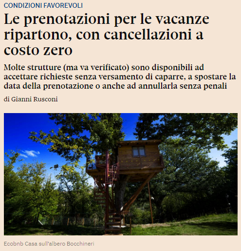 """Tenuta Bocchineri su """"Il Sole 24 ore"""""""